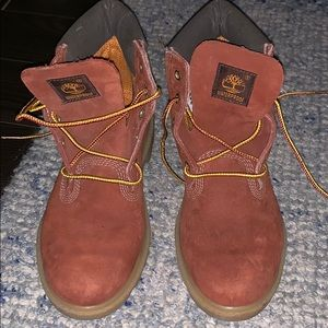 Copper color timberlands